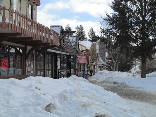 Bavarian Style Store Fronts - Interesting German Style Architecture In The Canadian Rockies, Kimberley BC Mar '12