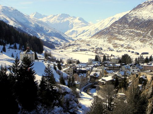 Andermatt seen from above